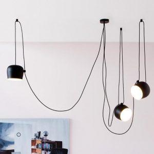 illuminazione flos lampada a sospensione aim small 3 lampade e rosone