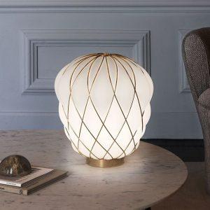 illuminazione fontana arte lampada da tavolo pinecone