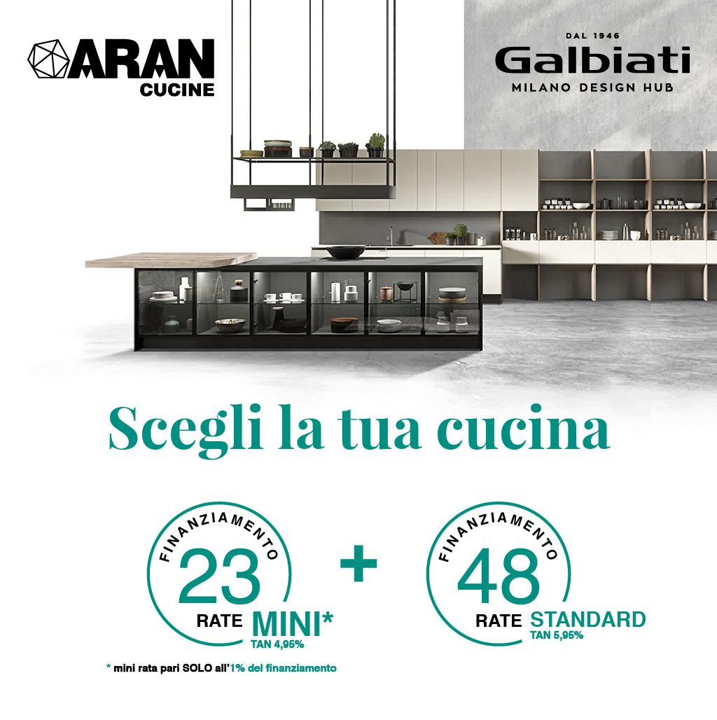 galbiati milano design hub promozione aran cucine finanziamento 23 48 rate