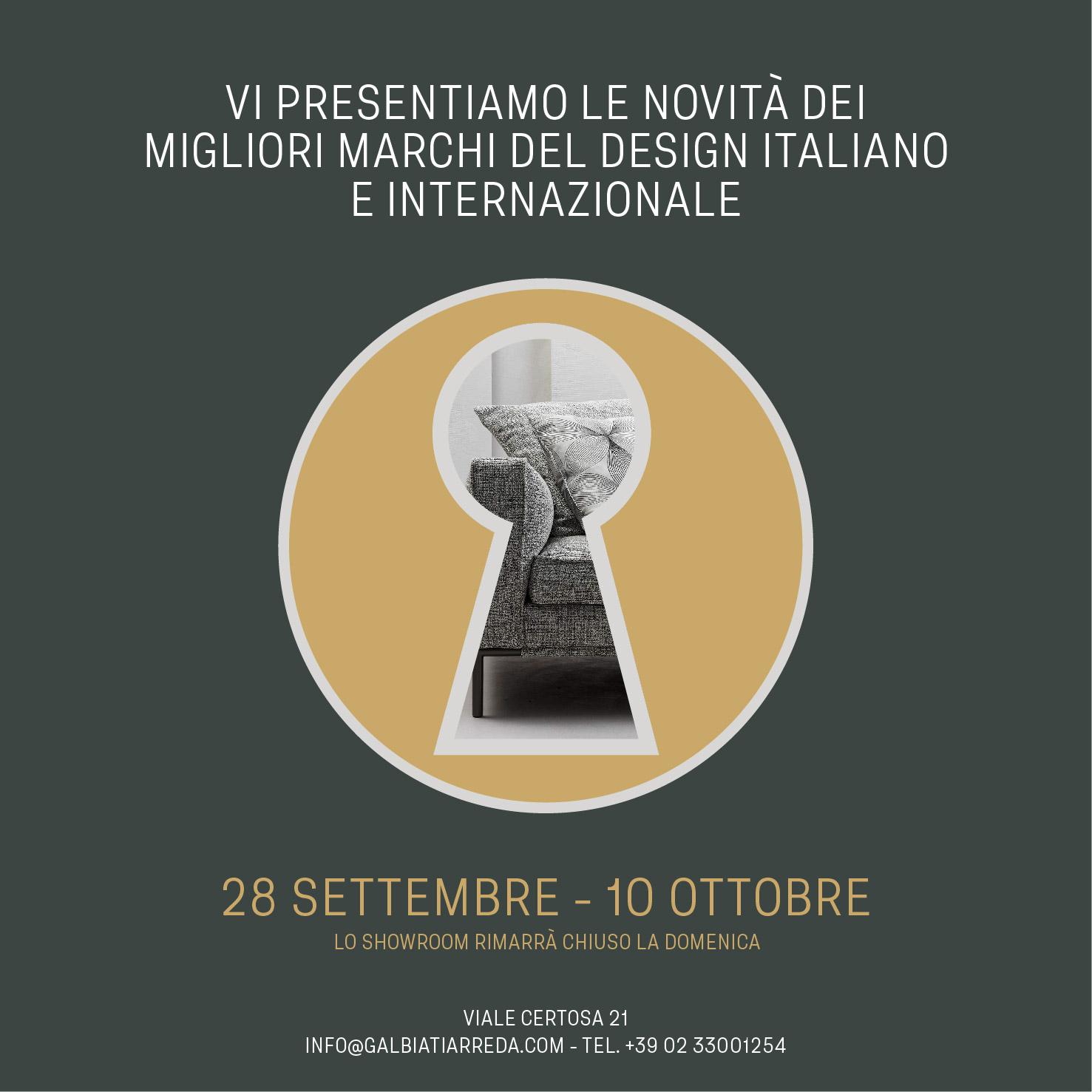 novità design italiano internazionale galbiati milano design hub