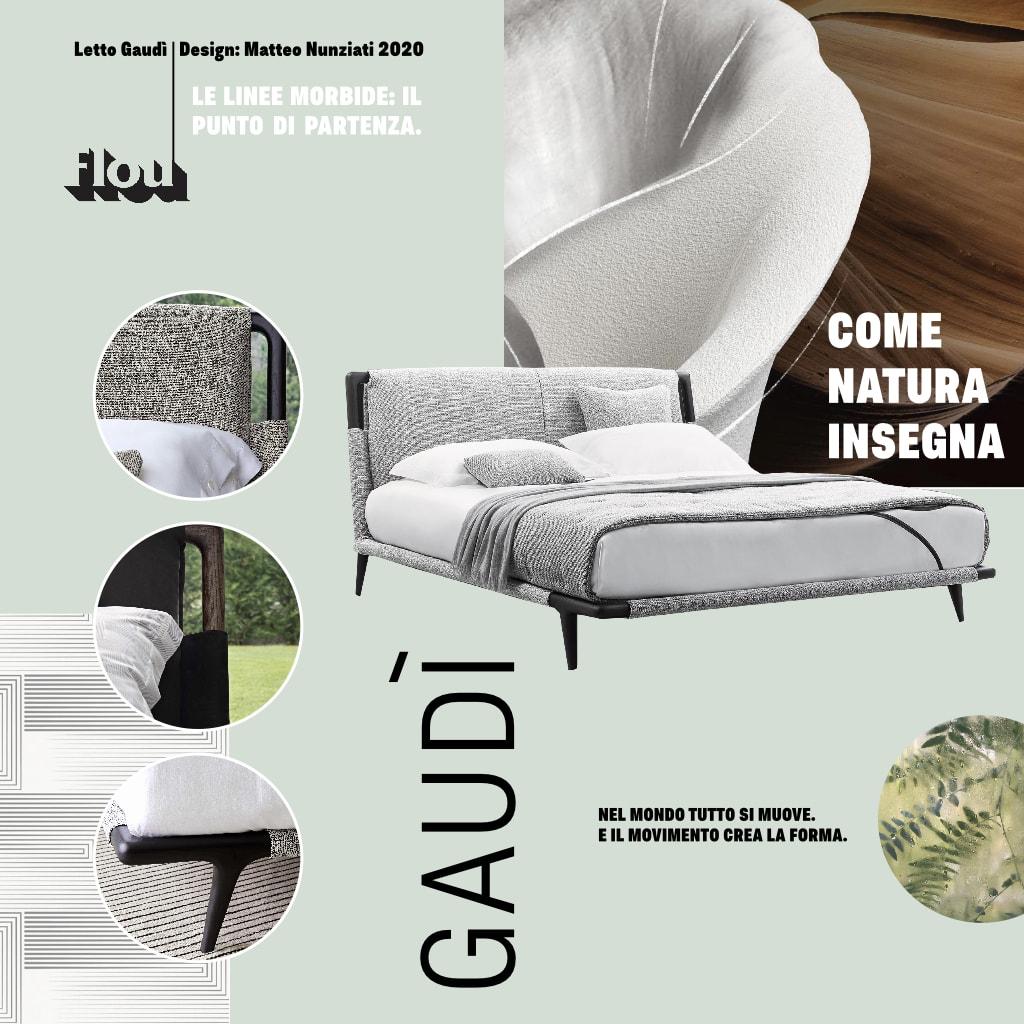 letto flou gaudi galbiati Milano design hub